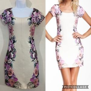 Willow & Clay Anthropologie floral bodycon dress